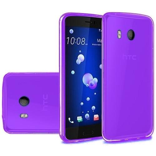 Insten TPU Transparent Case For HTC U11, Dark Purple