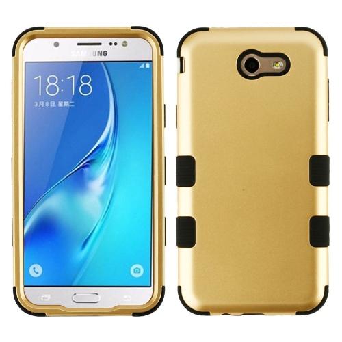 Insten Tuff Hard Hybrid TPU Case For Samsung Galaxy Halo/J7 (2017)/J7 Prime/J7 V, Gold/Black