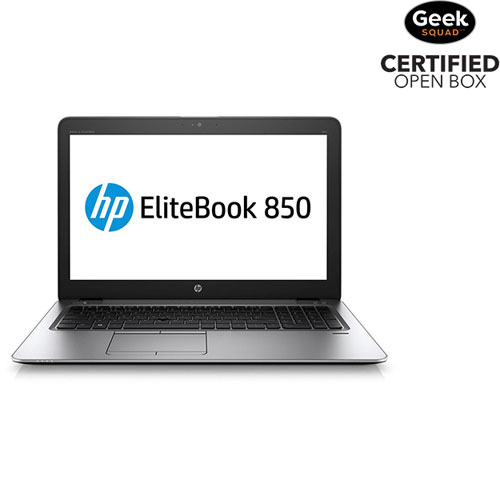 Portable EliteBook 850 de 15,6 po de HP (Core i7-6600U/SSD 256 Go/RAM 8 Go/Win 10) -EN- Boîte ouv