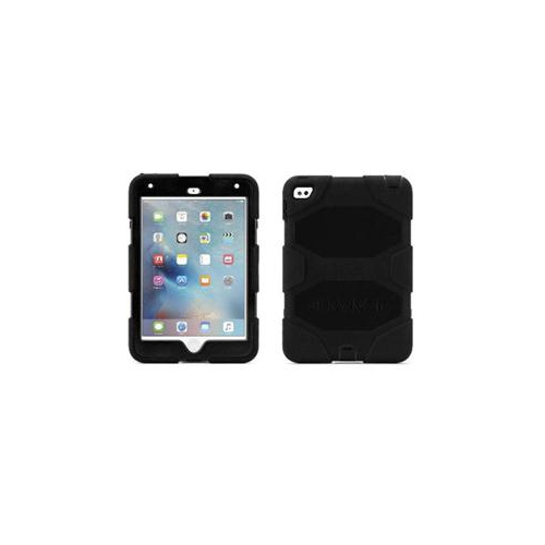GRIFFIN, IPAD MINI 4 CASE WITH STAND, BLACK SURVIVOR ALL-TERRAIN, [RUGGED] [PROTECTIVE] [DUAL LAYER] [HEAVY DUTY] [SHOCK
