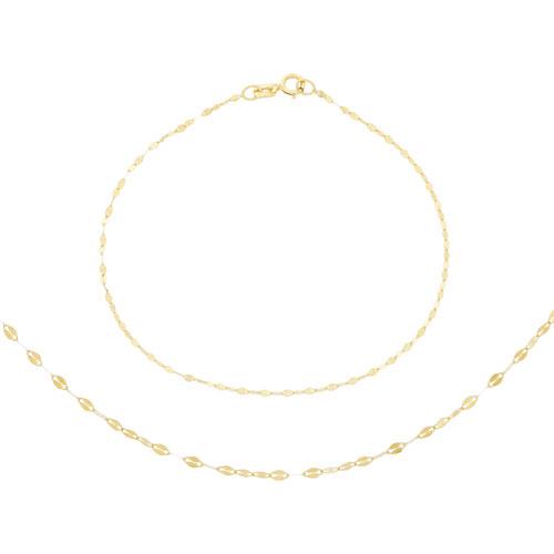 """18"""" 10K Gold Necklace & Bracelet Set"""