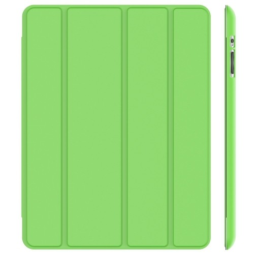 JETech® Gold Slim-Fit Folio Case Cover with Back Case for Apple the New iPad 4 & 3 / iPad 2 (Green)