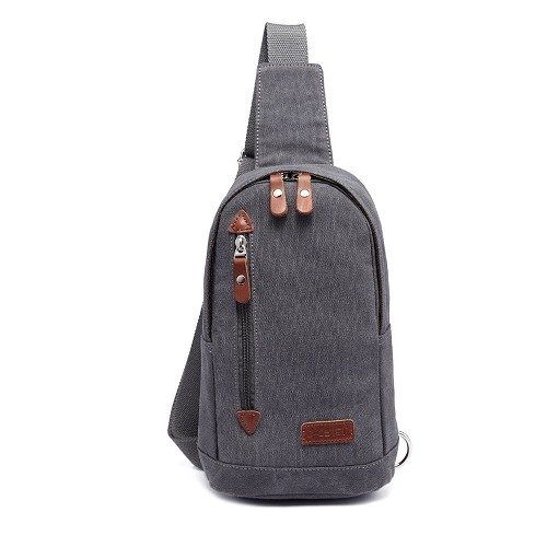 d20c38c7523e Lightweight Mini Canvas Backpack Purse Small Sling Bag for Men Women -Gray    Backpacks - Best Buy Canada