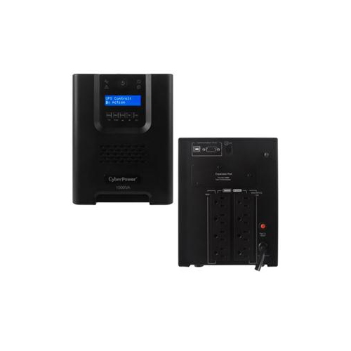 CYBERPOWER SMART APP UPS 1500VA TOWER 15A 8OUT 5-15R LCD AVR SINEWAVE 3YR PR1500LCD