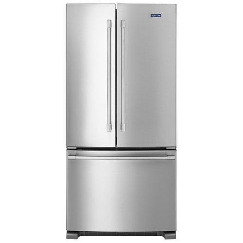 R frig rateur deux portes de 22 pi 33 po clairage del de maytag mff2258fez inox - Refrigerateur deux portes ...