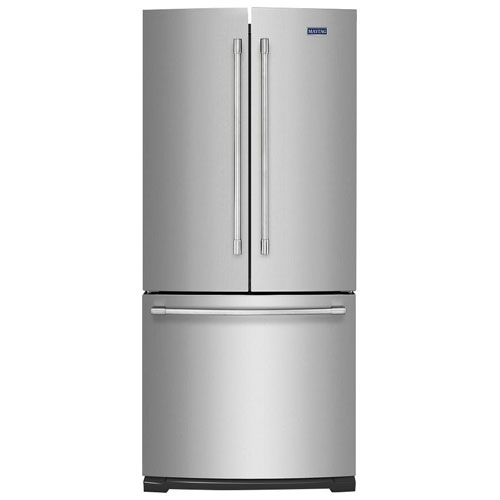 """Maytag 30"""" 20 Cu. Ft. French Door Refrigerator with LED Lighting - Stainless Steel"""