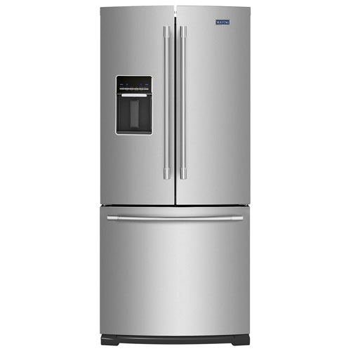 """Maytag 30"""" 19.7 Cu. Ft. French Door Refrigerator with LED Lighting - Stainless Steel"""