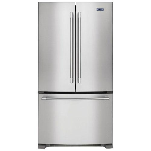 R frig rateur deux portes 25 pi 36 po avec clairage del de maytag mff2558fez acier - Refrigerateur deux portes ...