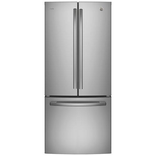 Réfrigérateur deux portes 20,8 pi³ 30 po avec distributeur d'eau Profile de GE - Inox
