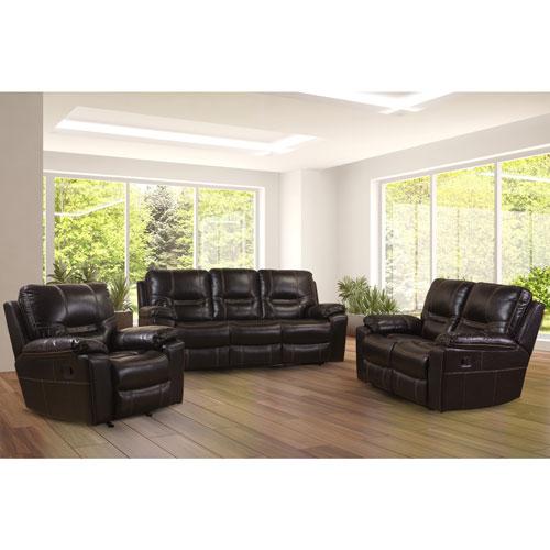 canap inclinable traditionnel en cuir reconstitu william. Black Bedroom Furniture Sets. Home Design Ideas