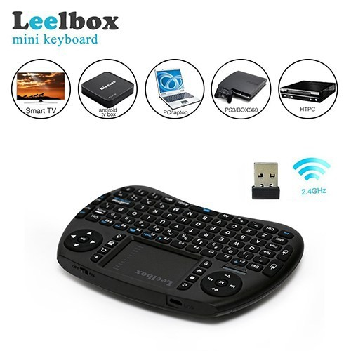Leelbox 2 4Ghz Mini Wireless Keyboard with Mouse Touchpad Rechargeable  Combos for PC Notebook Smart TV Android TV BOX