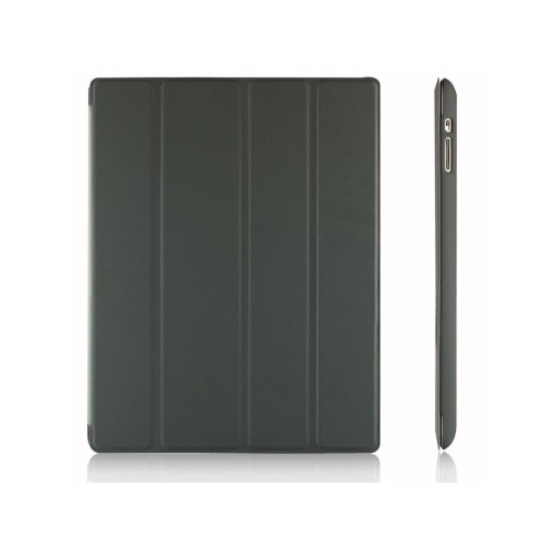 iPad Case, JETech® Gold Slim-Fit Folio Case Cover with Back Case for Apple the New iPad 4 & 3 / iPad 2 (Dark Grey)