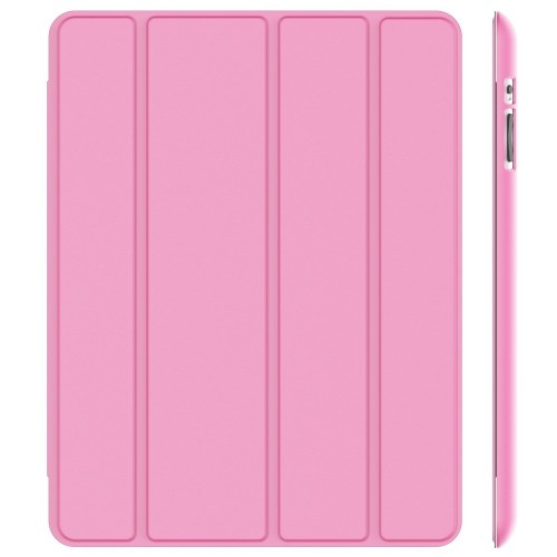 JETech Gold Slim-Fit Folio Case Cover with Back Case for Apple the New iPad 4 & 3 / iPad 2 (Pink)