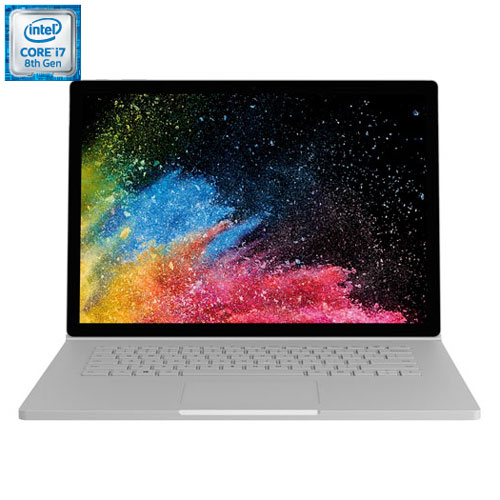 "Microsoft Surface Book 2 15"" 2-in-1 Laptop - Silver (Intel Core i7-8650U/1TB HDD/16GB RAM) - French"