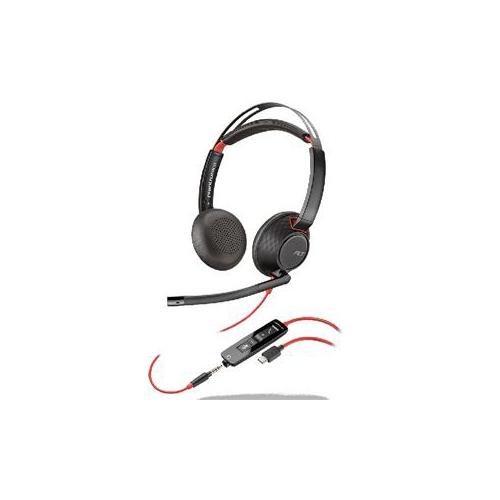 Plantronics Blackwire 5220 USB Type-C Stereo On-Ear Noise-Canceling Headset