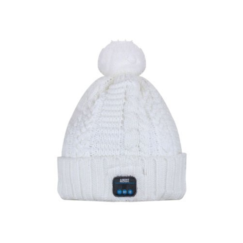 e04f1ed1b03 August EPA30 – Wireless Bluetooth Beanie - Winter Knit Hat with Bluetooth  Stereo Headphones Microphone Hands Free System and   Smart Clothing - Best  Buy ...
