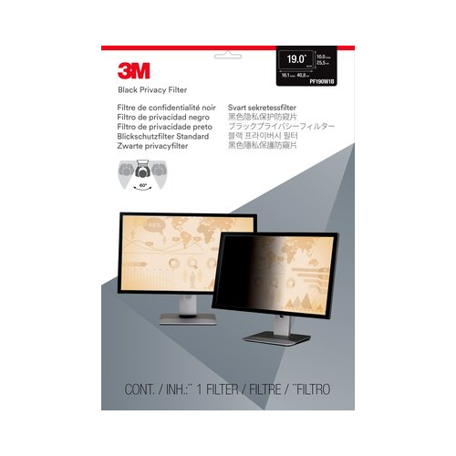 "3M Privacy Filter for 19"" Widescreen Monitor - Black - (PF190W1B)"