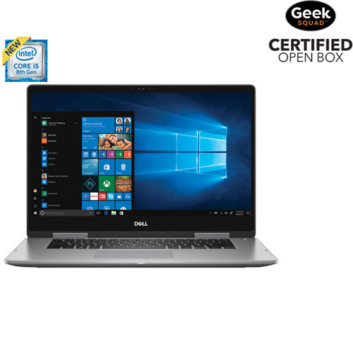 "Dell Inspiron 15.6"" 2-in-1 Laptop - Grey (Intel Core i5-8250U/2TB HDD/8GB RAM/Windows 10) - Open Box"