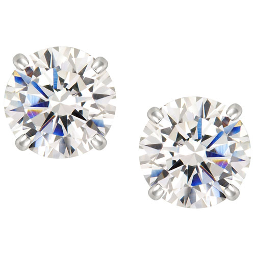 bf66b2eb5400 Stud Earrings in Sterling Silver with Cubic Zirconia   Earrings - Best Buy  Canada