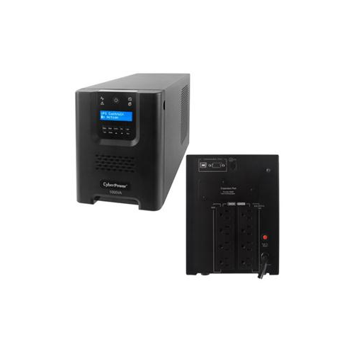 CYBERPOWER SMART APP UPS 1000VA TOWER 15A 8OUT 5-15R LCD AVR SINEWAVE 3YR PR1000LCD