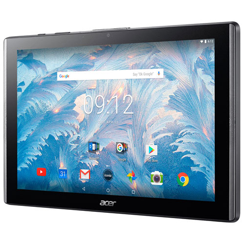 """Acer Iconia One 10.1"""" 16GB Android 7.0 Tablet With MT8167 4-Core Processor - Black"""