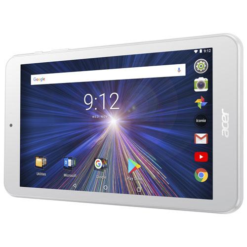 Tablette 8 po 16 Go Android 7.0 Iconia One d'Acer avec processeur quadruple coeur MT8167 - Blanc