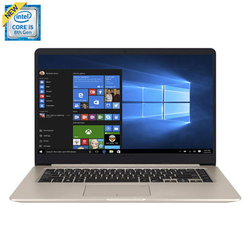"ASUS VivoBook 15.6"" Laptop - Gold (Intel Core i5-8250U/512GB SSD/16GB RAM/Windows 10)"