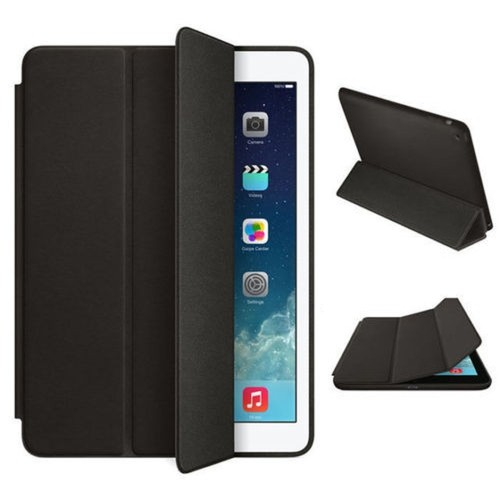 Exian iPad 2/3/4 Triple folded Smart Flip Case Black