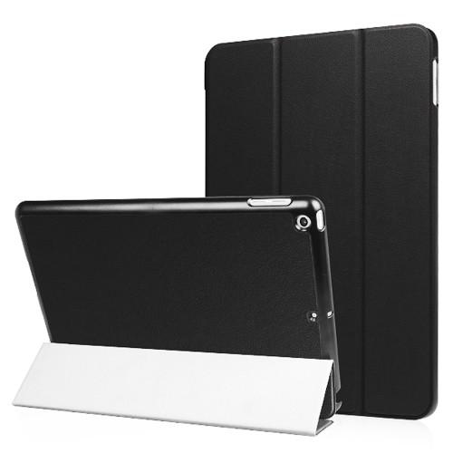 """Exian New iPad 2017 9.7"""" triple folded Smart Flip Case Black"""