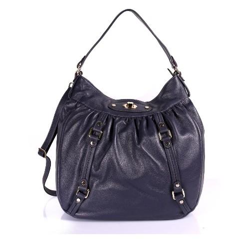 Karla Hanson Women's Premium Leather Laptop Shoulder Bag Purple