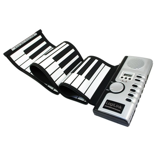 axGear Midi Keyboard 61 Keys Digital Electronic Silicone Portable Piano