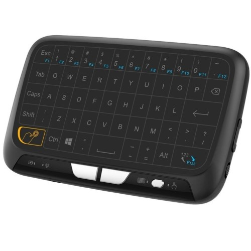 axGear Cordless Keyboard Touch Pad Mini Wireless Keypad Multi Point Plam Touch USB 2.4G