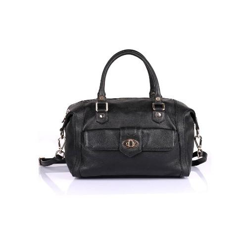 Karla Hanson Women s Premium Leather Satchel Bag Black   Satchel ... 4fcfd08ca2