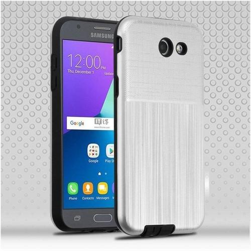 Insten Hard Case For Samsung Galaxy J3 (2017)/J3 Eclipse/J3 Emerge/J3 Luna Pro, Silver