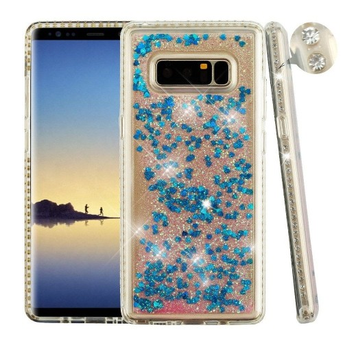the best attitude 64cb3 1853f Insten Quicksand Hard Bling TPU Case For Samsung Galaxy Note 8, Blue