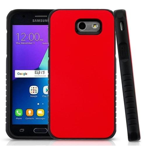 Insten Hard Case For Samsung Galaxy J3 (2017)/J3 Eclipse/J3 Emerge/J3 Luna Pro, Red