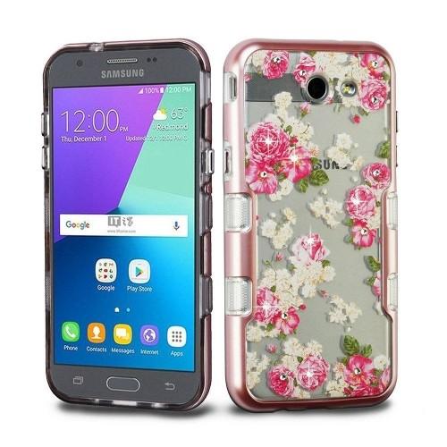 Insten Tuff European Rose TPU Case For Samsung Galaxy J3 (2017)/J3 Eclipse/J3 Emerge/J3 Luna Pro