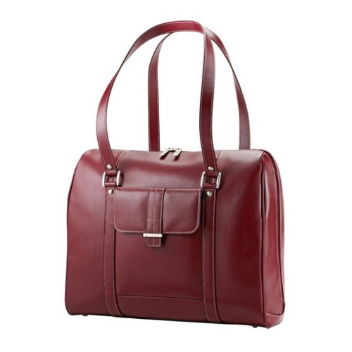 "Samsonite Ladies Leather Laptop Bag 15.6"" - Rouge"