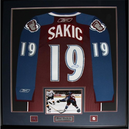 ... shopping joe sakic colorado avalanche signed jersey frame nhl  memorabilia collectibles best buy canada cc5fc 88b3b a22434668