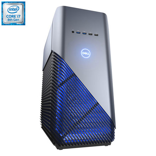 Ordinateur jeu Dell (i7-8700 Intel/DD 1 To/SSD 256 Go/RAM 16 Go/GeForce GTX 1070 NVIDIA/Windows 10)