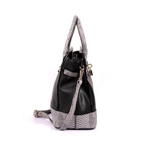 2fb1810f88f72 Karla Hanson Julie Women s Satchel Bag Black   Python