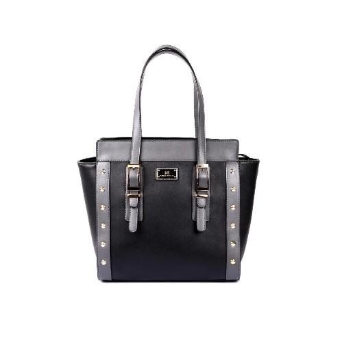 fae4a27dafc9b Karla Hanson Julie Women s Tote Bag Black Grey   Crossbody Bags ...