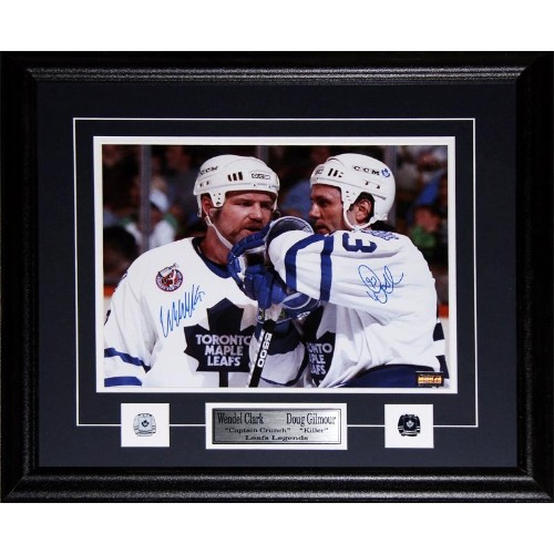 Doug Gilmour   Wendel Clark Toronto Maple Leafs signed 11x14 frame - Online  Only 213fa621f