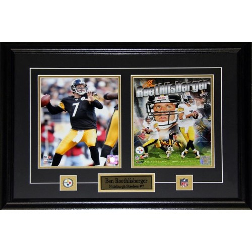 Ben Roethlisberger Pittsburgh Steelers 2 photo frame - Online Only 760dc46df