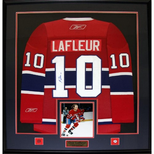 pretty nice a0c6a 32ab9 Guy Lafleur Montreal Canadiens signed jersey frame