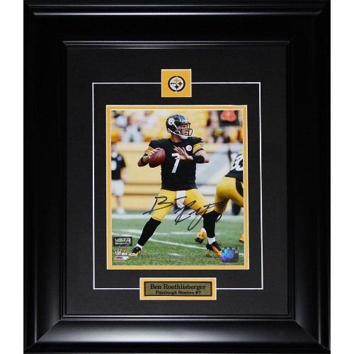 Ben Roethlisberger Pittsburgh Steelers signed 8x10 frame - Online Only 5613618fa