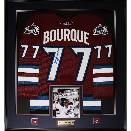 new style 2a395 d0fb3 Ray Bourque Colorado Avalanche signed jersey frame