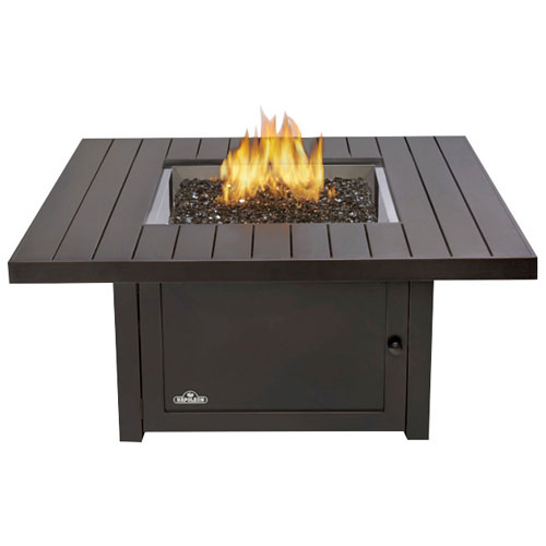 Napoleon St. Tropez Square PatioFlame Freestanding Gas Fire Pit Table    60,000 BTU : Outdoor Fireplaces   Best Buy Canada