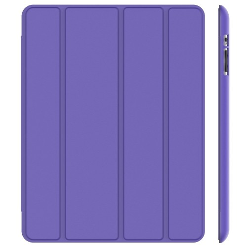 iPad Case, JETech® Gold Slim-Fit Folio Case Cover with Back Case for Apple the New iPad 4 & 3 / iPad 2 (Purple)