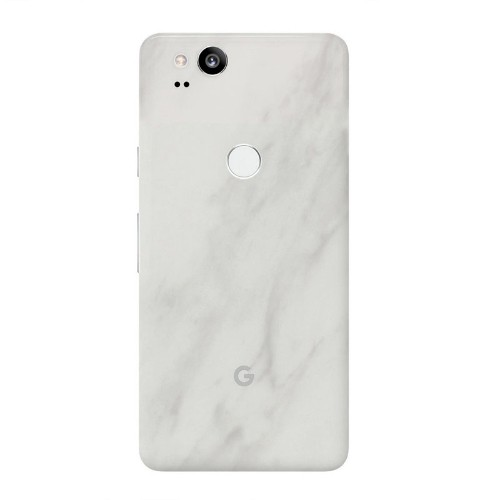 7 Layer Skinz Custom Skin Wrap for Google Pixel 2 (White Marble)